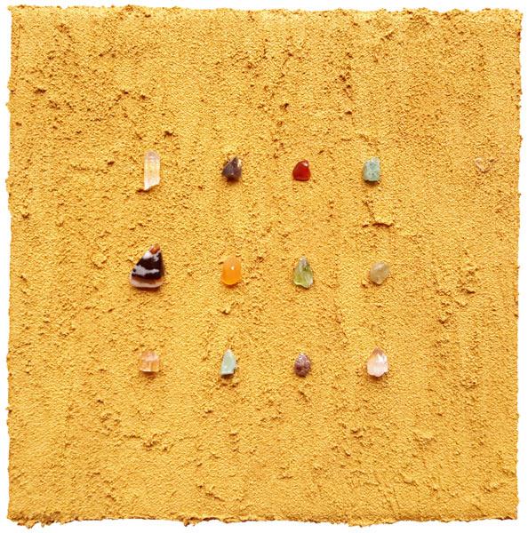 Este Galashire - 12 Edelsteine auf Sand